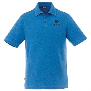 Elevate® Men's Tipton Short Sleeve Heathered Polo - Embroidery Personalization Available