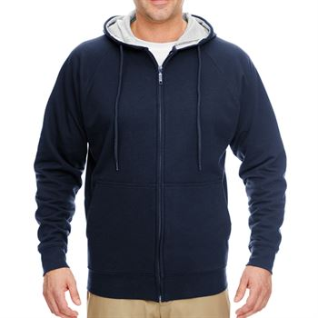 UltraClub® Men's Rugged Wear Thermal-Lined Full-Zip Hooded Fleece - Personalization Available