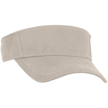 Big Accessories® Cotton Twill Visor - Personalization Available