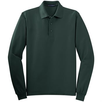 Port Authority® Men's Silk Touch Long-Sleeve Polo - Personalization Available