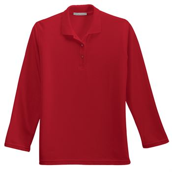 Port Authority® Women's Silk Touch Long-Sleeve Polo - Personalization Available
