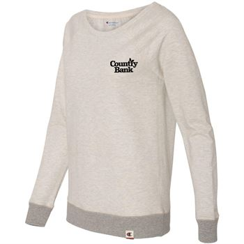 Champion-Originals Women's French Terry Boat Neck Sweatshirt