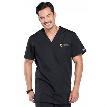 Cherokee® Unisex V-Neck 3-Pocket Scrubs Top - Personalization Available