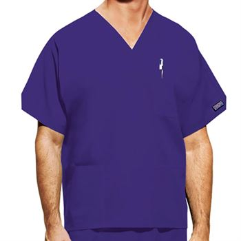 Cherokee Unisex V-Neck 3-Pocket Scrubs Top - Personalization Available