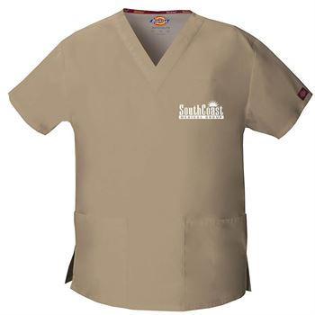 Dickies® Women's V-Neck Two-Pocket Scrubs Top - Personalization Available