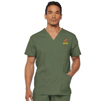 Dickies® Men's V-Neck 3-Pocket Scrubs Top - Personalization Available