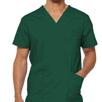 Dickies Men's V-Neck 3-Pocket Scrubs Top - Personalization Available
