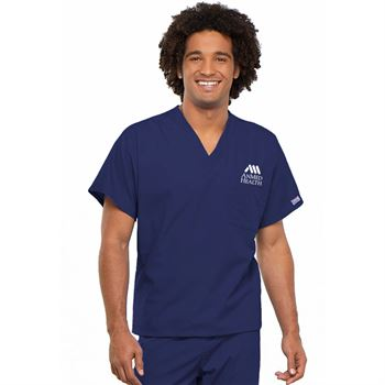 Dickies® Unisex V-Neck One-Pocket Scrubs Top - Personalization Available