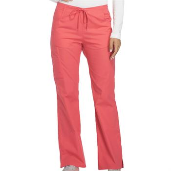 Dickies® Women's 6-Pocket Mid-Rise Drawstring Cargo Scrubs Pants