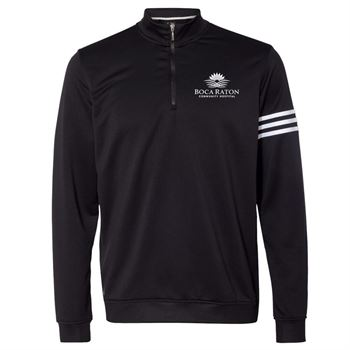 Adidas® Golf Men's ClimaLite 3-Stripes French Terry Quarter-Zip Pullover - Personalization Available