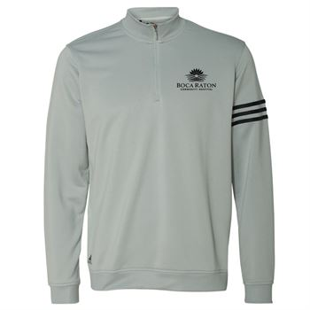 ee32427f Adidas® Golf Men's ClimaLite 3-Stripes French Terry Quarter-Zip Pullover -  Personalization Available