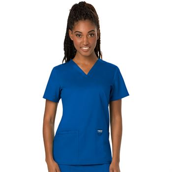 Cherokee Women's 2-Pocket Workwear Revolution V-Neck Scrubs Top - Personalization Available