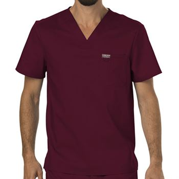 Cherokee Men's 1-Pocket Workwear Revolution V-Neck Scrubs Top - Personalization Available
