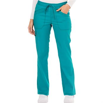 Dickies Women's 4-Pocket Essence Mid Rise Straight Leg Drawstring Scrubs Pants
