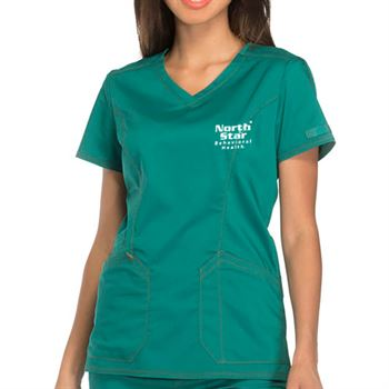 Dickies Women's 2-Pocket Essence V-Neck Scrubs Top - Personalization Available