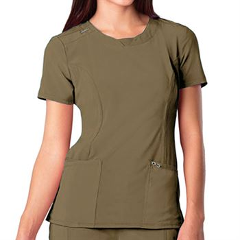 Cherokee Women's 3-Pocket Infinity Round Neck Scrubs Top - Personalization Available