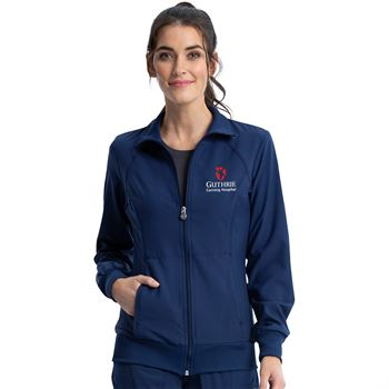 Cherokee® Women's Two-Pocket Infinity Zip-Front Warm-Up Jacket - Personalization Available