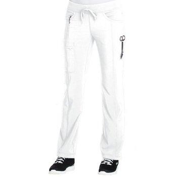 Cherokee Women's 4-Pocket Infinity Low-Rise Straight Leg Drawstring Scrubs Pants