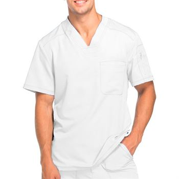 Dickies Men's 2-Pocket Dynamix V-Neck Scrubs Top - Personalization Available