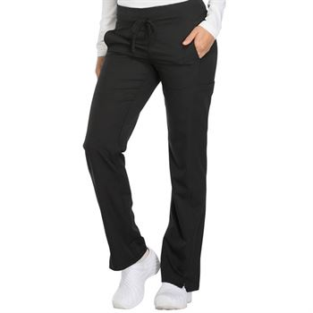 Dickies Women's 3-Pocket Dynamix Mid Rise Drawstring Scrubs Pants