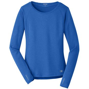 OGIO® ENDURANCE Ladies Long Sleeve Pulse Crew