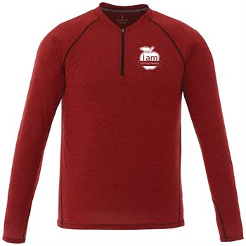 Elevate® Men's Quadra Long-Sleeve Top - Embroidery Personalization Available