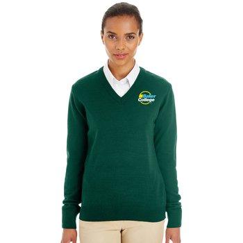 Harriton® Women's' Pilbloc™ V-Neck Sweater - Embroidered Personalization Available