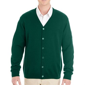Harriton Men's Pilbloc™ V-Neck Button Cardigan Sweater
