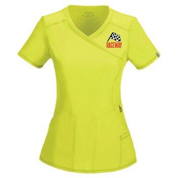 Cherokee® Women's Mock Wrap Scrubs Top - Personalization Available
