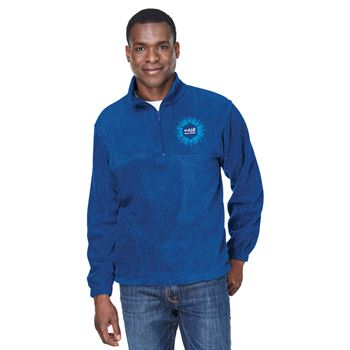 Harriton® Adult 8-oz. Quarter-Zip Fleece Pullover - Personalization Available