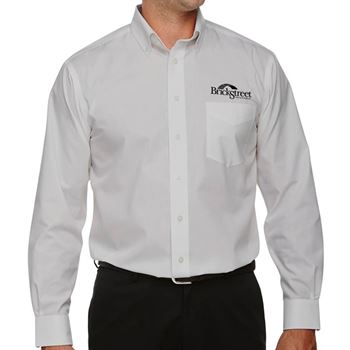Devon & Jones® Men's Crown Woven Collection™ Solid Broadcloth Shirt - Personalization Available