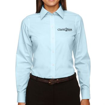 Devon & Jones® Ladies' Crown Woven Collection™ Solid Broadcloth Shirt - Personalization Available