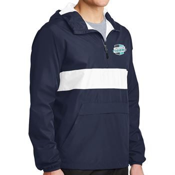 Sport-Tek® Zipped Pocket Anorak WIndbreaker - Personalization Available