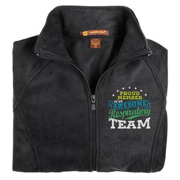Proud Member Of An Awesome Respiratory Team Harriton® Women's Full-Zip Fleece Jacket - Personalization Available