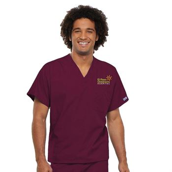 Respiratory Cherokee® V-Neck One-Pocket Scrub Top - Personalization Available