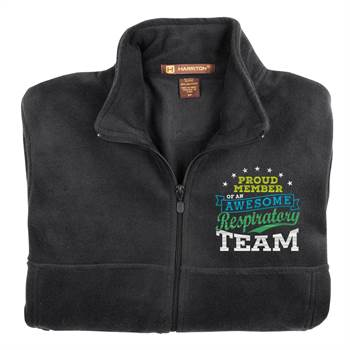 Proud Member Of An Awesome Respiratory Team Harriton® Men's Full-Zip Fleece Jacket - Personalization Available