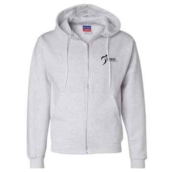 Champion® Double Dry Eco Hooded Full-Zip Sweatshirt - Embroidery Personalization Available