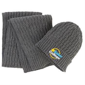 Deluxe Beanie & Scarf Set - Personalization Available