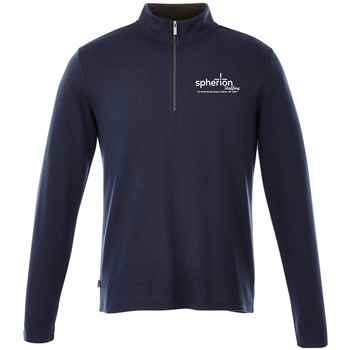 Elevate® Men's Stratton Knit Quarter Zip Sweater - Embroidery Personalization Available