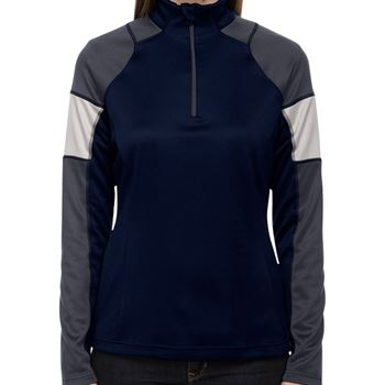North End® Quick Performance Women's Interlock Quarter-Zip - Personalization Available