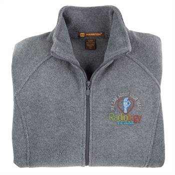 Radiology Team: We Care About Your Image Harriton® Women's Full-Zip Fleece Jacket - Embroidery Personalization Optional