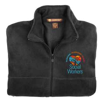 Social Workers: Passion, Purpose, Heart Harriton® Men's Full-Zip Fleece Jacket - Personalization Available