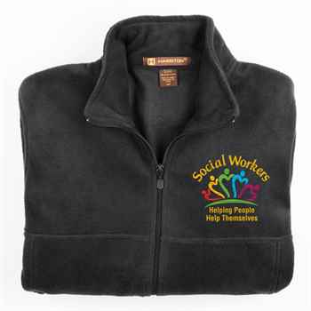 Social Workers: Helping People Help Themselves Harriton® Men's Full-Zip Fleece Jacket - Personalization Available