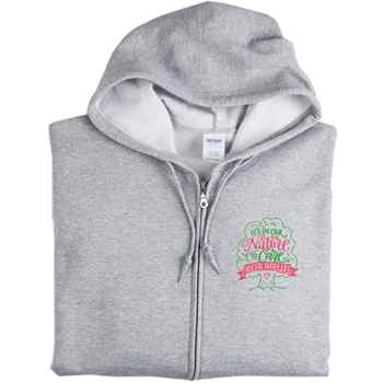 Social Workers: It's In Our Nature To Care Gildan® Heavy Blend™ Women's 8-Oz., 50/50 Full-Zip Hooded Sweatshirt - Personalization Available