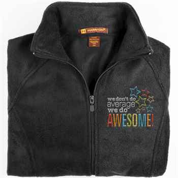 We Don't Do Average, We Do Awesome! Harriton® Fleece Full-Zip Women's Jacket