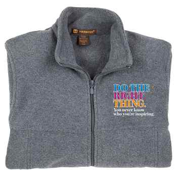 Do The Right Thing Harriton® Men's Fleece Full-Zip Jacket