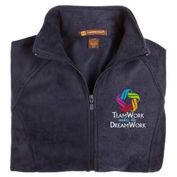 Teamwork Makes The Dream Work Harriton® Women's Fleece Full-Zip Jacket