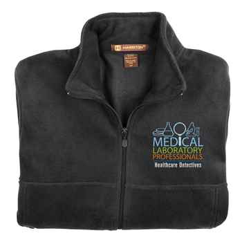 Medical Laboratory Professionals: Healthcare Detectives Harriton® Fleece Full-Zip Men's Jacket - Personalization Available