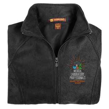 Medical Laboratory Professionals: Behind The Scenes Heroes Harriton® Fleece Full-Zip Women's Jacket - Personalization Available