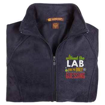 Without The Lab You're Only Guessing Harriton® Fleece Full-Zip Women's Jacket - Personalization Available